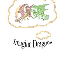 Imagine Dragons fan art with text by EucalyptusBear