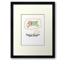 Imagine Dragons fan art with text Framed Print