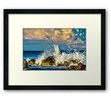 Clouds and Waves Framed Print