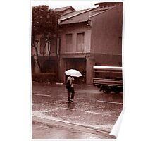 Sepia Rainy Day Poster