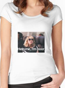 Help me, I'm Poor. Women's Fitted Scoop T-Shirt
