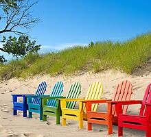 Colorful Chairs by Maria Dryfhout