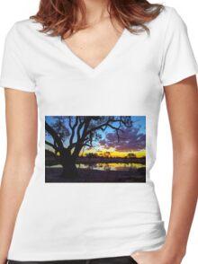 Kidman Camp Billabong  Women's Fitted V-Neck T-Shirt