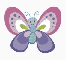 Cute Cartoon Butterfly One Piece - Short Sleeve