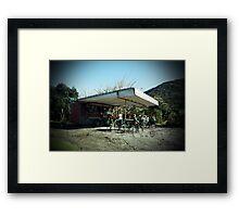 Bethells Cafe, Auckland, New Zealand Framed Print