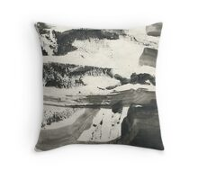 country road in winter Throw Pillow