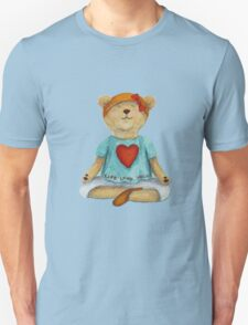 Live Love Yoga Bear (no background) Unisex T-Shirt