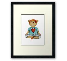 Live Love Yoga Bear (no background) Framed Print