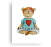 Live Love Yoga Bear (no background) Metal Print