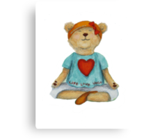 Live Love Yoga Bear (no background) Canvas Print