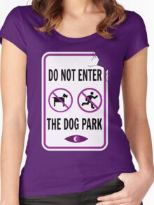 Night Vale - Dog Park Women's Fitted Scoop T-Shirt