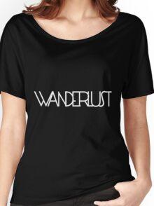 Wanderlust (white) Women's Relaxed Fit T-Shirt