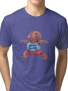 Warrior Yoga Bear  Tri-blend T-Shirt