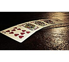 Cards of Hearts Photographic Print