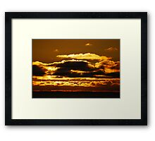 coastal sunset 2 Framed Print