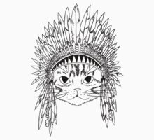 Chief Kitty - Black by Carol  Arevalo