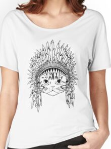 Chief Kitty - Black Women's Relaxed Fit T-Shirt