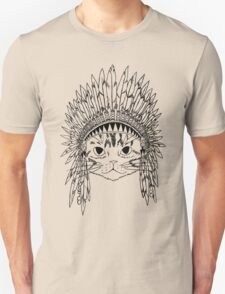 Chief Kitty - Black Unisex T-Shirt