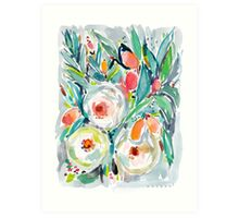 KUMQUAT TUMBLE FLORAL Art Print