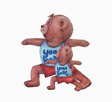 Daddy and Baby bear in Yoga Warrior 2 pose Unisex T-Shirt
