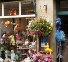 Shop window in Haworth Sticker