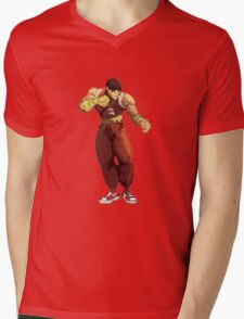 Guy- 3rd Strike Sprite Mens V-Neck T-Shirt