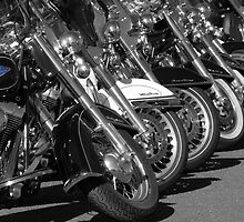 Harley Davidsons, Seligman, Route 66 by CliveHarris