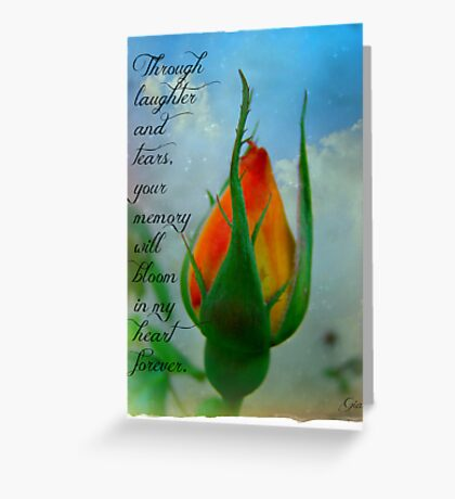 """I Will Remember You"" Greeting Card"