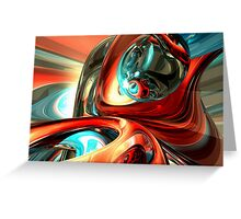 Slippery Abstract Greeting Card