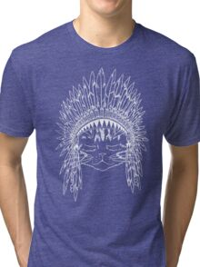 Chief Kitty - White Tri-blend T-Shirt