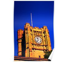 Clock Tower at Melbourne Uni Poster