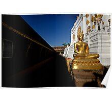 Golden Buddha Wat Chiang Yuen Poster