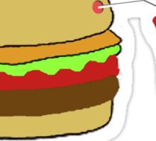 Burger and a Coke Sticker