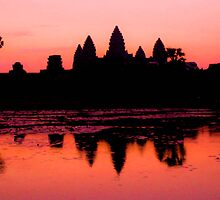 Dawn at Angkor Wat, Cambodia by KerryPurnell