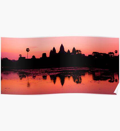 Dawn at Angkor Wat, Cambodia Poster