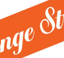 Orange Stripe Lager Sticker