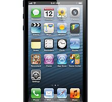 Black -iphone 5, iphone 4 4s, iPhone 3Gs, iPod Touch 4g case by Smutesh Mishra