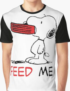 Hungry Snoopy Graphic T-Shirt