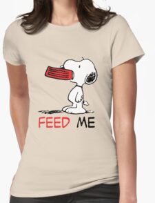 Hungry Snoopy Womens Fitted T-Shirt