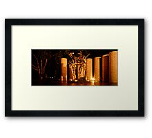 Floodlit Soldier Framed Print