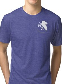 Pizzavangelion Team Shirt Corporate White Tri-blend T-Shirt