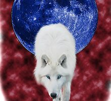 Red mist wolf by Coelina