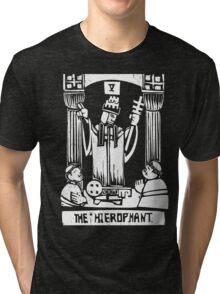 The Hierophant  - Tarot Cards - Major Arcana Tri-blend T-Shirt