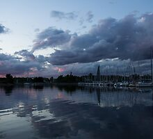 Reflecting on Boats and Clouds by Georgia Mizuleva