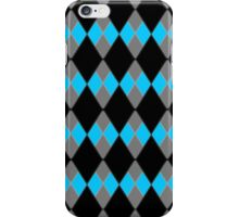 Blue, Gray, & Black Checkers iPhone Case/Skin