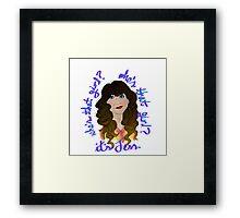 Jess - New Girl Framed Print