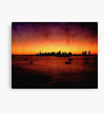 Miami Grunge Canvas Print