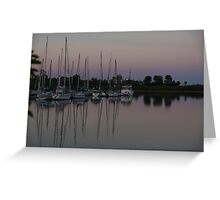 Downtown with Yachts Greeting Card