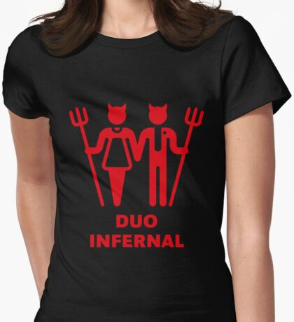 Duo Infernal Womens Fitted T-Shirt
