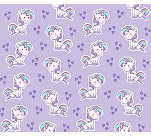 Unicorn Pattern Photographic Print